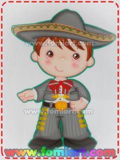 Niño Vestido de Mariachi Con Traje Gris