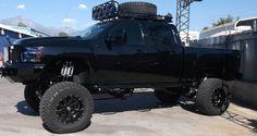 Stunning Truck Body Lift Kits #black #nice #4x4 #rollingcoal #mud #suspension #liftkits #nicetrucks #bigtrucks Rolling Coal, Lift Kits, Wheels And Tires, Gmc Trucks, 4x4, Chevy, Monster Trucks, Vehicles, Nice