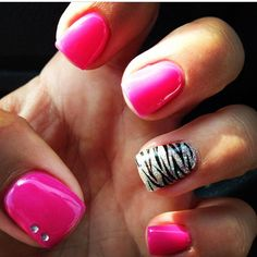 Gel nails!! Want mine done like this!