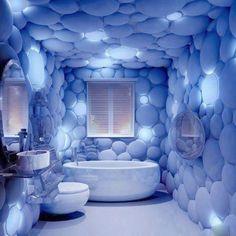 Beau Odd Creative Bubble Bathroom Home Decor Design Blue Bathtub Toilet Sink