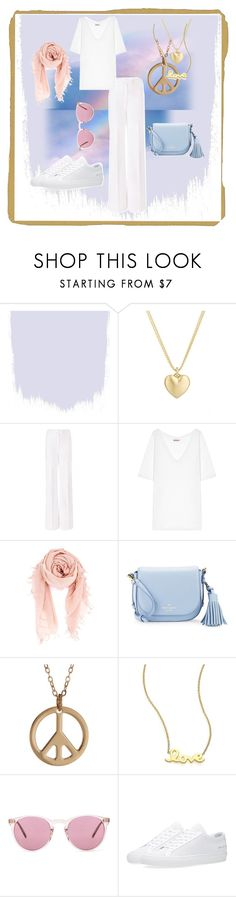 """Peace"" by aline-voldoire on Polyvore featuring Finn, Diane Von Furstenberg, Chan Luu, Kate Spade, Roberto Coin, Oliver Peoples and Common Projects"