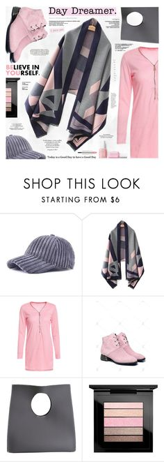 """""""Pink and Grey"""" by katjuncica ❤ liked on Polyvore featuring MAC Cosmetics, Givenchy, Nico, PinkDress, pinkandgrey, pinkshoes, greybags and greycap"""