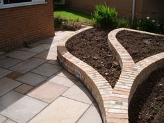old stone garden | Fairstone Riven & Old Mill Brick by Marcus Guy Garden Design