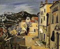Yves Brayer (1907-1990) Le Village des Baux 1963