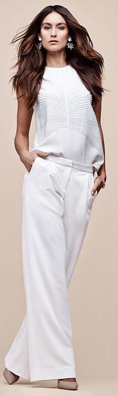 white blouse pants @roressclothes closet ideas women fashion outfit clothing style
