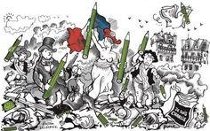 VIDÉO. Les dessins émus de Faujour, le remplaçant de Charb dans l'émission 28 minutes
