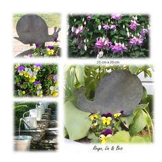 Silhouette chat patte en l\'air décoration de jardin en zinc à ...