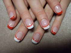 french manicure different colors in gallery