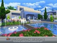 The Sims Resource: Una Compact Design3 by Autaki • Sims 4 Downloads