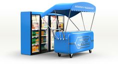Streetfood rollbars for parks and streets of Moscow on Behance
