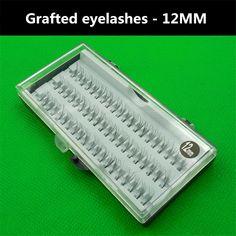 Planting grafted false eyelashes tufted bundle 60 neat quality 12mm single 4p