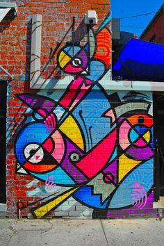 Abstract birds #graffiti #streetart