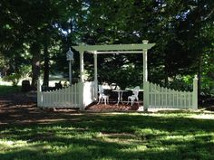 Just finished adding the fences to each side of the Arbor in our side yard. This is really becoming a comfy place to sit in the heat of the summer.  https://www.facebook.com/Carlasgardenanddecor