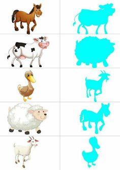 Animal Activities, Preschool Activities, Activities For Kids, Farm Animals, Animals And Pets, Community Helpers Preschool, Kids Activity Books, Animal Body Parts, Hidden Pictures