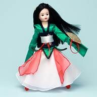 China $107.96 Celebrate the heritage of China with this lovely Maiden made from a 10 inch Coquette doll with flowing waist length hair, brown eyes and special Chinese face stencil. She is traditionally dressed in a green satin blouse that has floor length sleeves. A separate green satin collar is embellished with a blue satin floral trim. Over the blouse she wears a corset made from the same blue satin floral. (visit www.duchessoutlet.com for full product description).