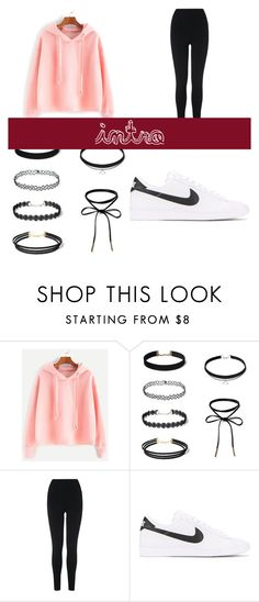 """""""Being Lazy"""" by prplbtrfly ❤ liked on Polyvore featuring L.K.Bennett and NIKE"""