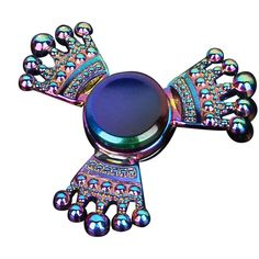 Colorful Tri-Spinner Fidget Hand Spinner ADHD Autism Fingertips Reduce Stress Focus Attention Toys