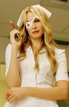 Kill Bill, Vol. 1 (2003) - Daryl Hannah as Elle Driver, directed and written by Quentin Tarantino.