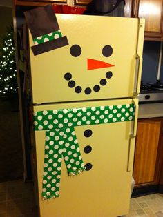 Christmas decoration DIY Snowman Fridge