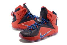 a95392bfdca8 WMNS LeBron 12 GS GS Superman University Red Game Royal Midnight Navy  685181 601