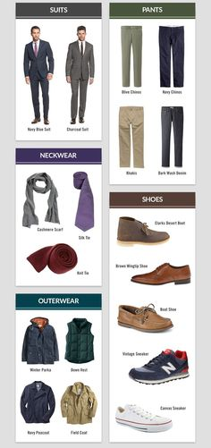 Wanting to take your wardrobe to another level? Look no further than the Men's Wardrobe Essentials from Famous Outfits. It's a handsomely designed visual guide that shows the clothing and accessory essentials that every gentleman should have in his closet Capsule Wardrobe Men, Mens Wardrobe Essentials, Men's Wardrobe, Wardrobe Basics, Wardrobe Ideas, Fashion Moda, Look Fashion, Mens Fashion, Fashion Tips