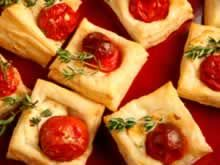 Appetizer with puff pastry - Fingerfood Puff Pastry Appetizers, Appetizer Recipes, Snacks To Make, Brunch, Tasty Dishes, Finger Foods, Italian Recipes, Tapas, Foodies