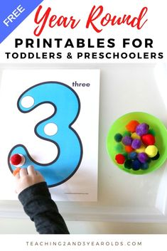 Looking for free toddler and preschool printables that work all year long? This collection contains printable activities that build a variety of skills for home and school! Toddler Activities Daycare, Baby Learning Activities, Activities For 2 Year Olds, Preschool Learning, Educational Activities, Preschool Activities, Toddler Preschool, Free Preschool, Preschool Printables