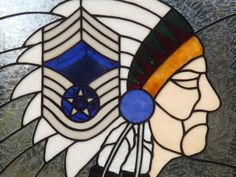 Air Force Chief Master Sergeant Framed Panel by connysstainedglass, $250.00