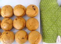 Healthy and delicious pumpkin chocolate chip muffins (with some whole wheat flour)