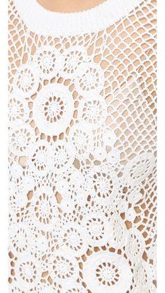Выдающийся крючком: Вязание крючком пуловер от Tess Гиберсон