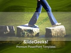 Stepping People PowerPoint Template 0610 #PowerPoint #Templates #Themes #Background