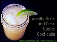 Vanilla Bean and Pear Vodka Cocktails