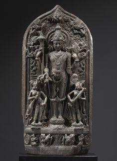 VISHNU STELE  BLACK STONE  EASTERN INDIA, PALA PERIOD from Sothebys  via Stonefinder
