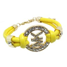 Michael Kors Rhinestone Logo Yellow Accessories Outlet