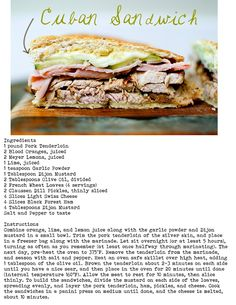 cuban sandwich recipe. Could i do the first two parts in the crock pot?