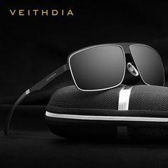 FuzWeb VEITHDIA Stainless Steel HD original Aluminum Polarized UV400 Men s  Square Vintage Male Eyewear Sunglasses 37af91bbeb38