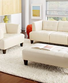 loving this white leather couch! living with kids: michelle
