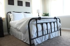 Transform any brass thrift store headboard with spray paint! | The Wood Grain Cottage