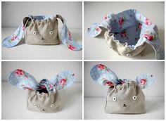Bunny Bento Bag. Use google translate for English.