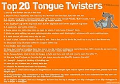 Awesome tongue twisters