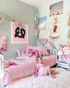 Goldie's Beautiful Bedroom • Unicorn Garland | fancytreehouse