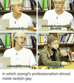 Damn Min Suga almost made Jin gay XD