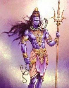 Shiva...he must be in golden color instead of blue as per scriptures.he is a supreme god.