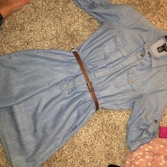 Denim Dress lowered price Excellent shape, no noted flaws. Belt not included. Dresses Long Sleeve