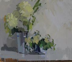 Yellow dahlias.  26 x 30 ins. Philip Richardson
