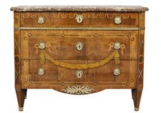 Bureau of Jonas Hultsten, champion in Stockholm 1773-1794. Veneered with rosewood, mahogany, maple and stained hardwood and slice of red limestone. Inlaid lagergirland.