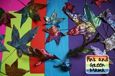 Fall Craft: Glitter and Mod Podge Leaves