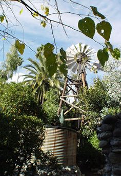 Rubel Pharm's 1901 Aermotor windmill, brought from Lompoc in 1970. | If you are in San Gabriel Valley, arrange a tour through the Glendora Historical Society: tours.rubelcastle.org
