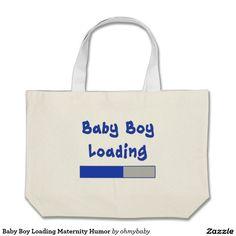 Baby Boy Loading Maternity Humor Large Tote Bag