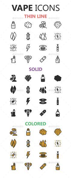 Vape Icons in 3 styles Vaping Life Vape Facts, Vape Memes, Vaping, Vape Design, Weed, Cigarette Aesthetic, Vape Smoke, Smoke Shops, Shop Logo
